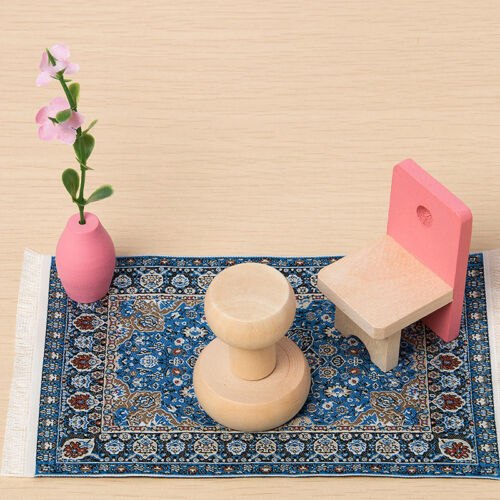 New Blue Starry Night Carpet 1/12 Dollhouse Miniature Toy House Decor