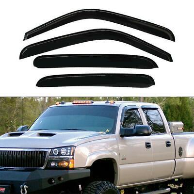 Window Visor Sun/Rain Guard Vent Shade For Chevy/GMC/Cadillac Crew Cab 94355 4pc Cab Ventshade Visor