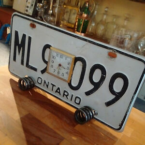 License Plate Alarm Clock