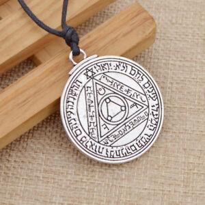 Talisman Sun Magic Solomon Seal Amulet Pendant Protection Necklace Luck Jewelry