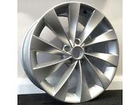 "18"" Scirocco Style Alloys & Tyres. Suit Audi A3,Volkswagen Caddy,Golf,Jetta, Passat, Seat Leon 5x112"