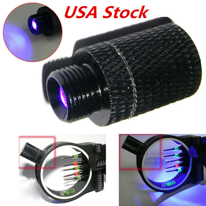 Archery Fiber Thread LED Sight Light 3/8-32 Universal For Co