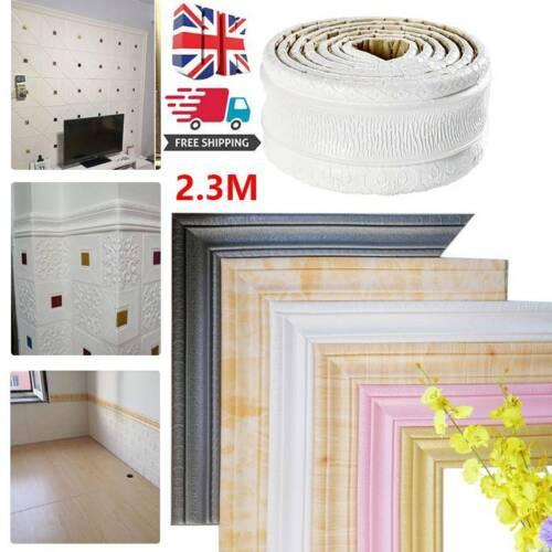 Home Decoration - DIY 3D Self Adhesive Wall Trim Line Skirting Border Home Decor Sticker Wallpaper