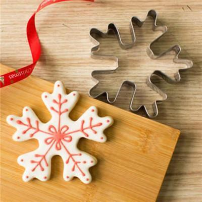 Snowflake Cookie Cutter - Snowflake Stainless Steel Biscuit Pastry Cookie Cutter Cake Decor Mold Tool Q