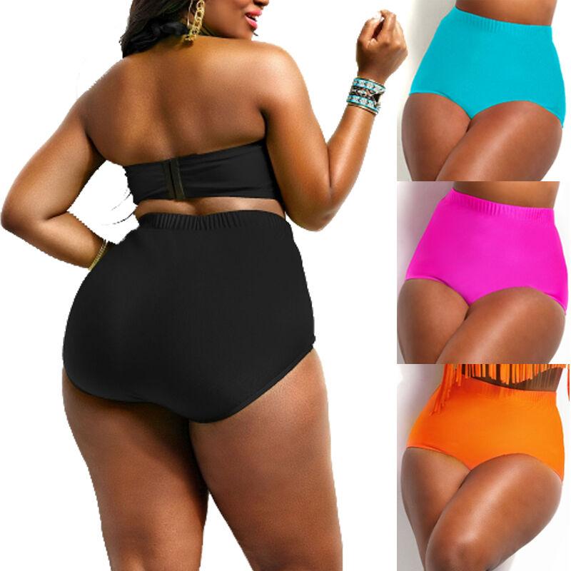 d3bdd1884fba3 Details about Womens High Waist Bikini Push Up Bathing Swimwear Beach Wear Bottoms  Plus Size