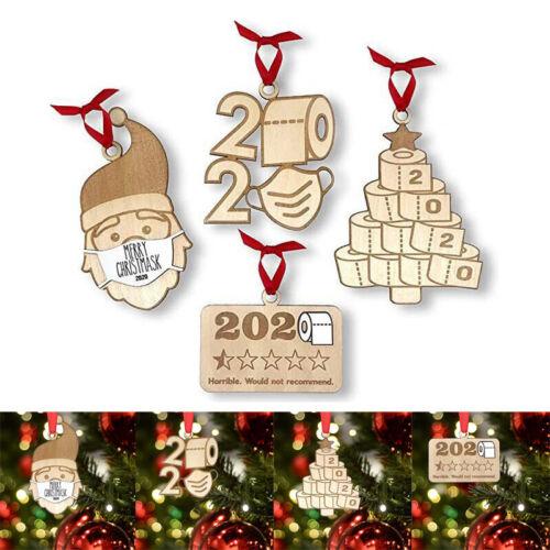 4PCS Xmas Home Party Decor Wood Christmas Tree Ornament Wooden Hanging Pendants Holiday & Seasonal Décor