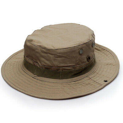 Bucket Boonie Hat Safari Camo Bucket Wide Brim Sun Fishing Bush Safari Cap​