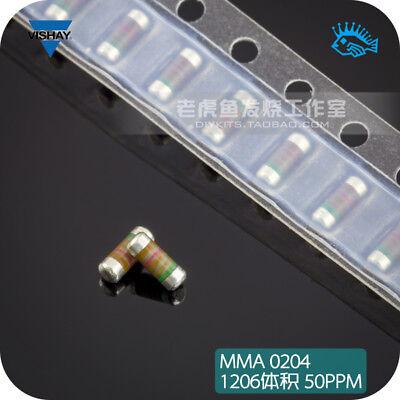 10pcs Vishay Mma0204 Wafer Chip Resistor Cylinder 1206 Volume 1 50ppm