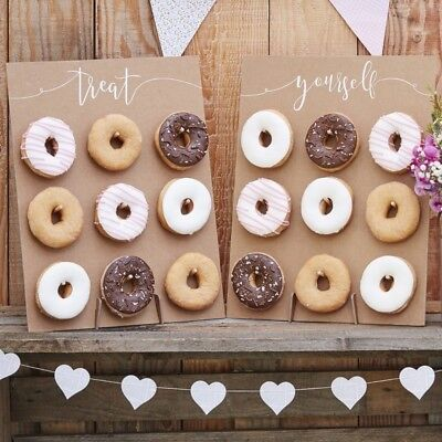 Rustic Double Donut Wall for Baby Showers Bridal Shower Weddings Birthday - Rustic Showers