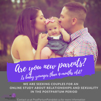 Seeking New Parents to Participate in a Postpartum Couples Study