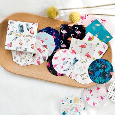 45Pcs Paper Flamingo Stickers Wedding Favor Gift Craft Label Diy Scrapbook Decor