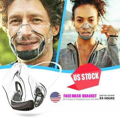 Durable Mask Face Shields Combine Transparent Face Mask Lip Reading Bracket Mask