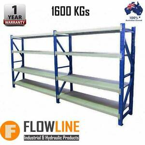 4.0M x 2.0M x 0.6M Heavy Duty Metal Warehouse Garage Racking Hoppers Crossing Wyndham Area Preview