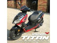 Lexmoto Titan 125cc Scooter- NEW 2021 EURO 5 MODEL IN STOCK SOON PRE ORDER NOW