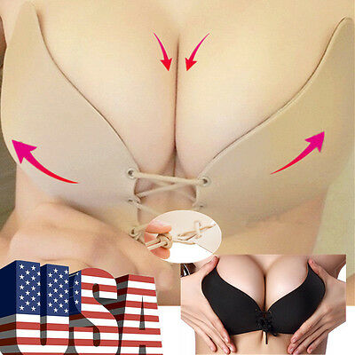 Self Adhesive Stick Push Up Silicone Bra Gel Strapless Invisible Backless Nubra
