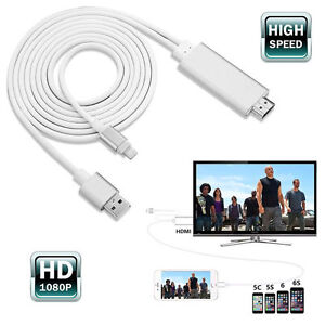 2M Apple Lightning to HDMI HDTV AV Cable Adapter for iPhone 6 6S Plus 5 5S