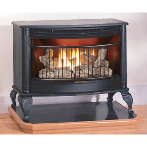 ISO propane heater/ stove for small cabin. Indoor vented unit.