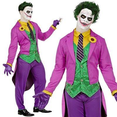 MAD JOKER Bösewicht Herren Kostüm Gr.M (48/50) Anzug Comic Held Halloween # - Held Bösewicht Kostüm