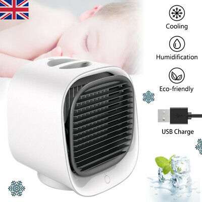 Air Cooler Mini Air Conditioner Fan Portable Humidifier Cool Desktop Office Flow