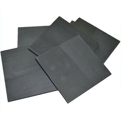 5pc 99.99% Pure-Graphite Carbon Electrode Rectangle Plate Sheet 50*40*3mm Gray