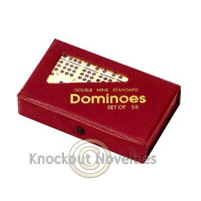 Standard Vinyl Case Domino Double 9 Game Board Play