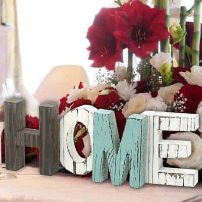New Rustic Wood HOME Sign Standing Cutout Letters Art Wooden Wedding Decor - Standing Letter Decor