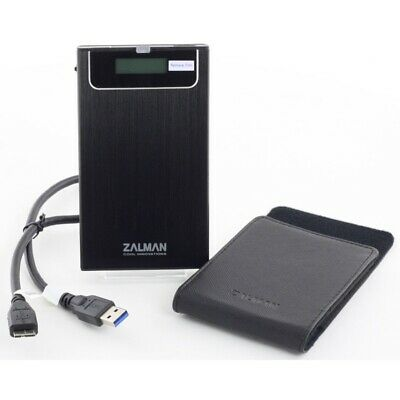 "Zalman ZM-VE350 for 2.5""HDD SSD Enclosure with Virtual ODD USB3.0/2.0 Black"
