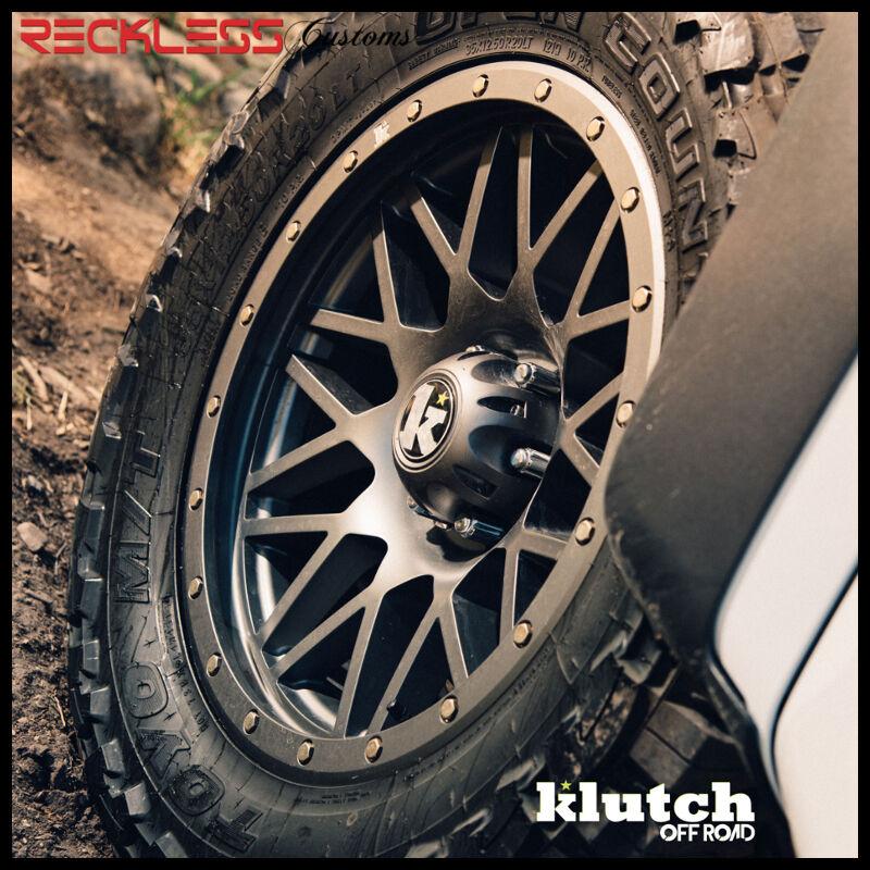 17x9 Klutch Kt02 Offroad Wheels Gunmetal 6x139.7 Rims Fits 03-16 Lexus Gx460