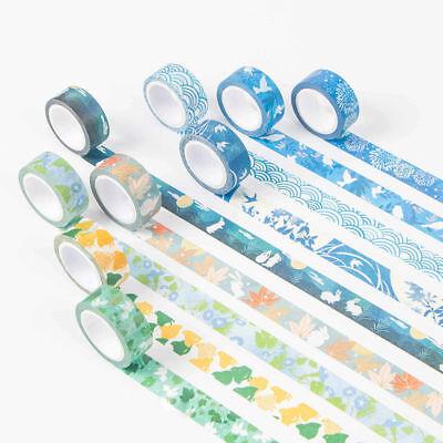 17Styles Decoration Multiple Themes Washi Paper Masking Adhesive Tapes Decor Diy