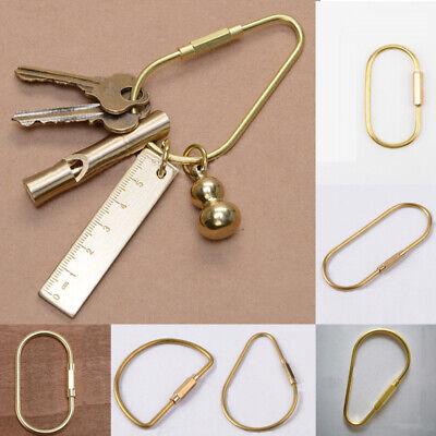 Messing Schlüsselanhänger Clip Schlüsselring Schlüsselanhänger  6 Formen