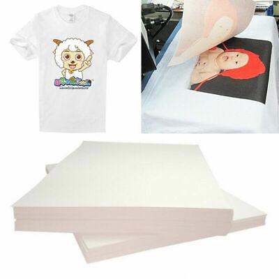20x Heat Transfer Paper T-shirt Clothing Inkjet Iron On Sheet Light Fabric Craft