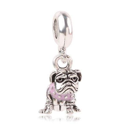 - 1pcs Silver dog European Charm Beads Fit 925 Necklace Bracelet Pendant Chain #1