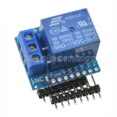 Wemos D1 Mini 12v Esp8266 Wifi Relay Shield Development Board For Arduino New