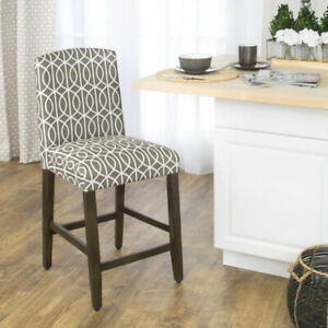Homepop Finley 24 in. Gray Bar Stool