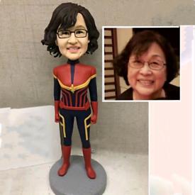 Custom Handmade Your 3D Minime Art Doll supershero smile