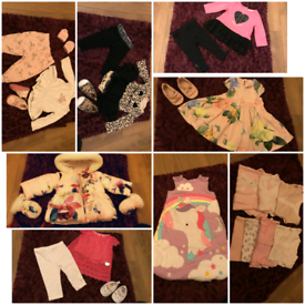 Designer baby girls clothes bundle 0-6 months Ted Baker joules juicy