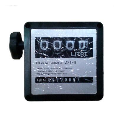 Oil Flow Meter - 4 Digital Diesel Gasoline Fuel Petrol Oil Flow Meter Counter Gauge BSPT 1