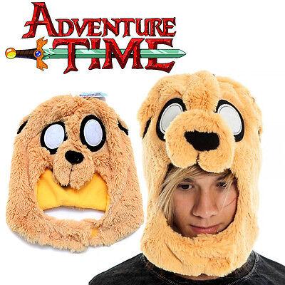 Adventure Time Jake Mascot Plush Hat  Face Cover  Costums Beanie Cap - Jake Adventure Time Costume