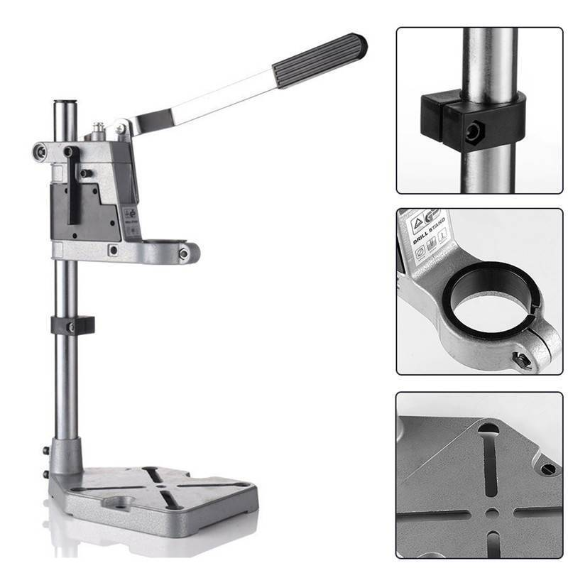 Electric Power Drill Bench Table Holder Stand Vertical Hole