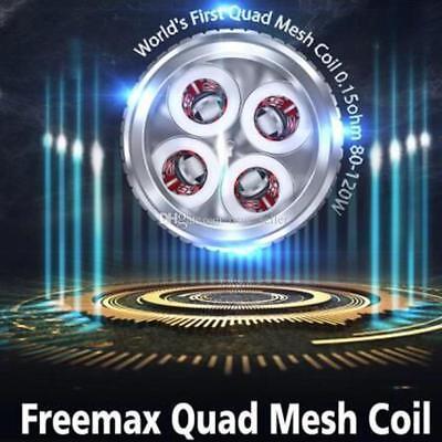 Freemax Mesh Pro Tank NEW QUAD MESH COILS,Best Out, Fits Fireluke, Fireluke Pro,