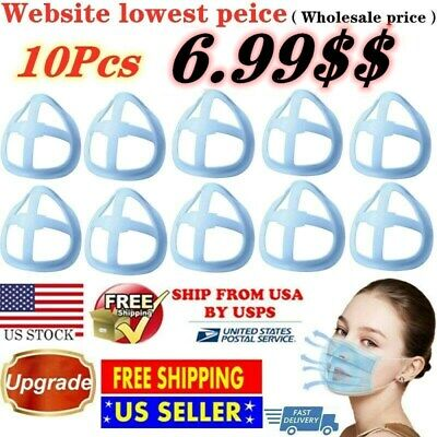 10Pc Face Bracket for Mask 3D Silicone Frame Reusable Inner Support Breathable $