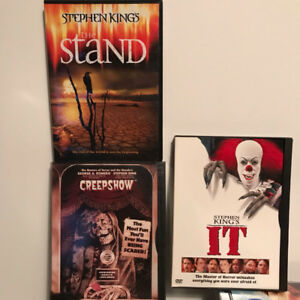 3 Stephen King DVDs (Creepshow, IT (1990), The Stand)