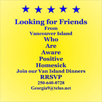 Are you lonely for friends from Vancouver Island ?