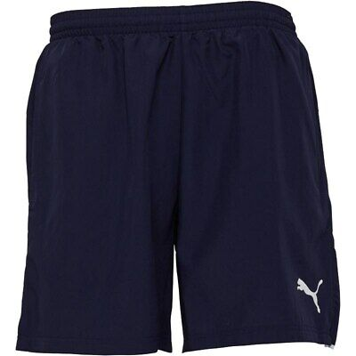 "PUMA NAVY WOVEN MENS BOYS TRAINING SHORTS  SPORTS SMALL 28-32"" RRP £20"