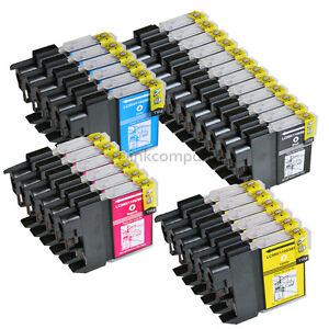 30 Druckerpatronen für Brother DCP 195 C LC980 LC1100 MFC5890CN MFC490CW DCP145C
