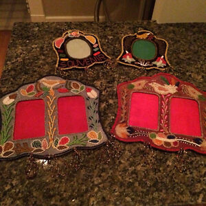 BEADED PICTURE FRAMES FROM MEXICO