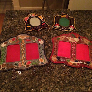 NEW PRICE - BEADED PICTURE FRAMES FROM MEXICO
