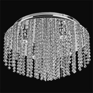 Glow Lighting Danube Collection Swarovski Crystal Ceiling Light