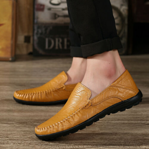 Mens Gommino Moccasins Pumps Slip On Casual Flat Leather Loafers Driving Shoes B