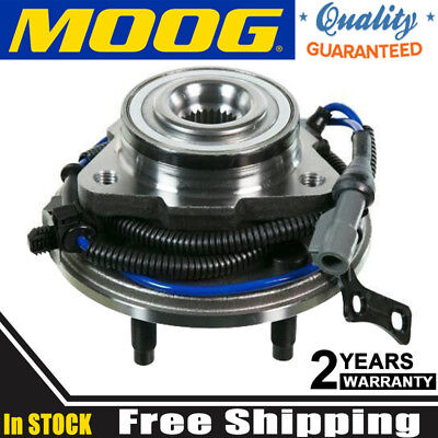 Front Wheel Parts - Moog Chassis Parts Wheel Hub and Bearing Assembly Front Ford Mercury Each 515078